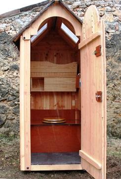Cabane en bois wc