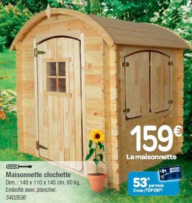 Cabane en bois sur pilotis carrefour - Mailleraye.fr jardin