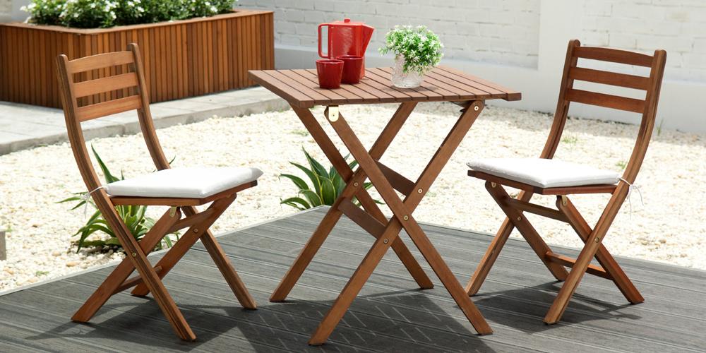 Table et chaise de jardin promo