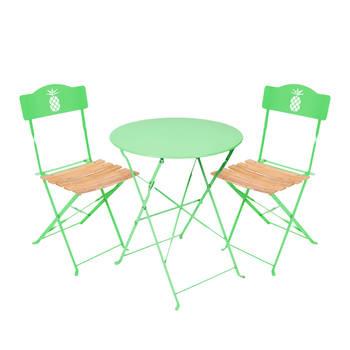 Salon de jardin de couleur verte - Mailleraye.fr jardin