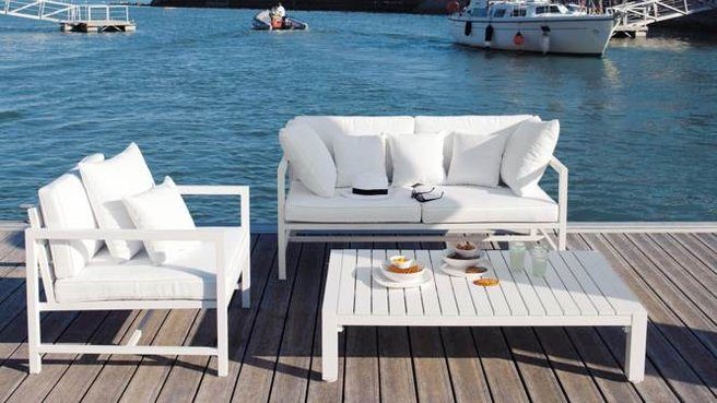 Mobilier de jardin design blanc - Mailleraye.fr jardin