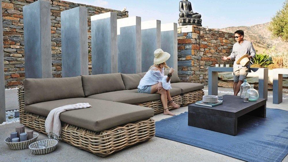 salon de jardin en rotin tresse jardin. Black Bedroom Furniture Sets. Home Design Ideas