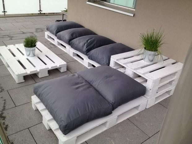 Salon de jardin palette terrasse