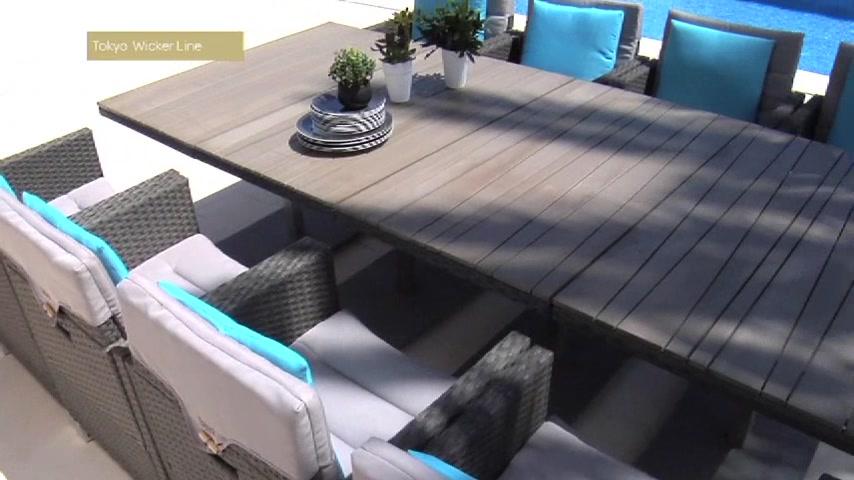Salon de jardin gris resine tressee - Mailleraye.fr jardin