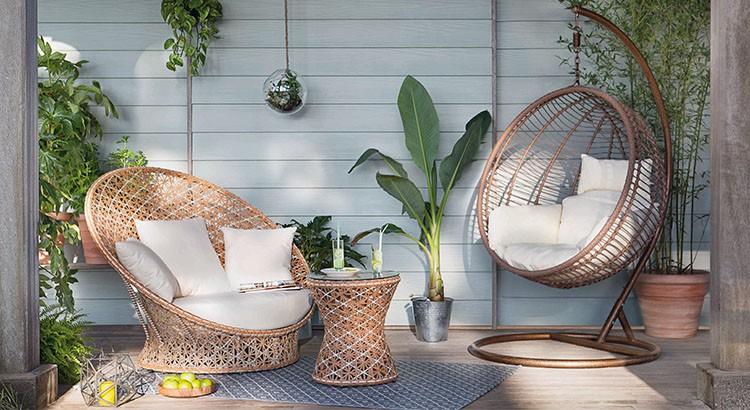 Salon de jardin en rotin ikea
