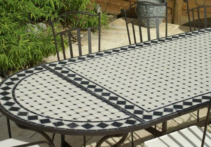 Table De Jardin Fer Forg. Cool Table Ronde Fer Forge Salon De Jardin ...