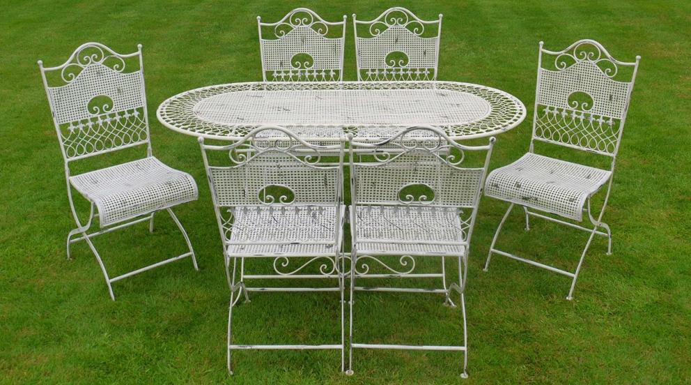 salon de jardin fer forg blanc jardin. Black Bedroom Furniture Sets. Home Design Ideas