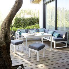 Salon de jardin en textilène cordoba - phoenix - gris foncé ...