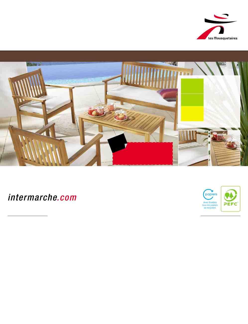 Salon de jardin intermarché 2014