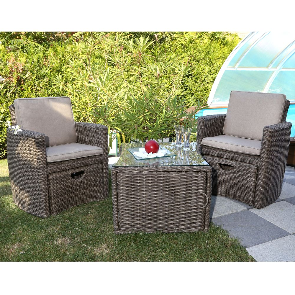 Salon de jardin deux fauteuils