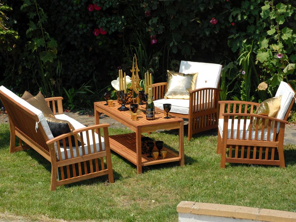 Salon de jardin eucalyptus - Mailleraye.fr jardin