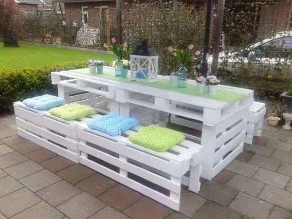 Salon de jardin d\'angle en palette - Mailleraye.fr jardin