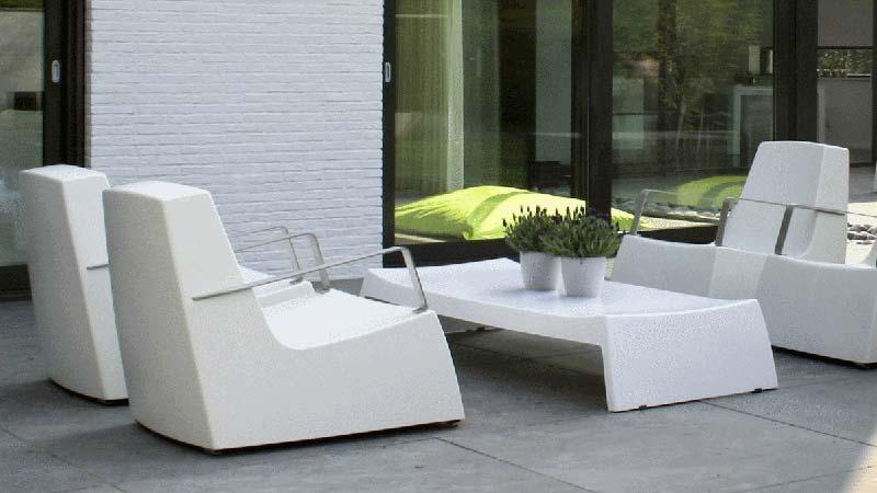 Salon de jardin en resine original