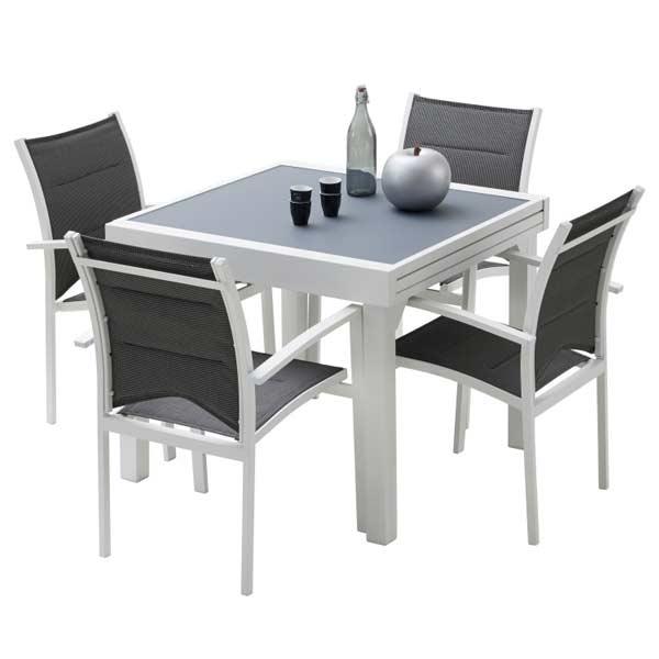 Ensemble table chaise exterieur
