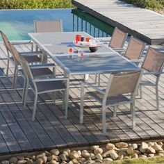 Salon de jardin aluminium oogarden - Mailleraye.fr jardin