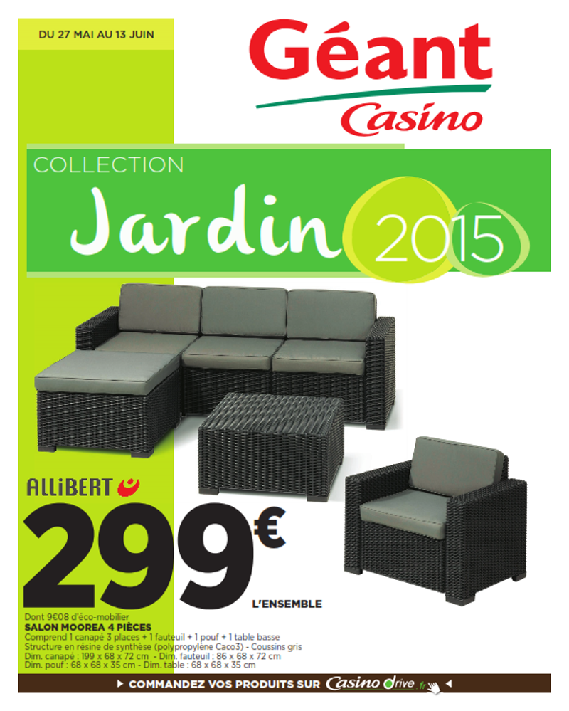 Salon de jardin pas cher geant casino - Mailleraye.fr jardin