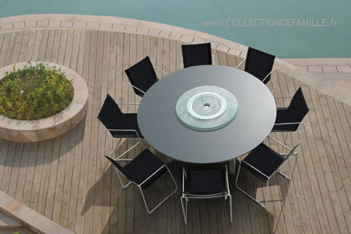 Salon de jardin aluminium table ronde jardin - Table ronde salon de jardin ...