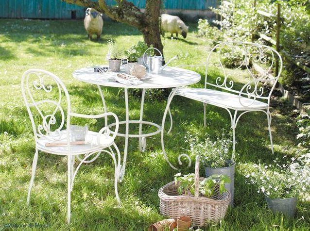Petit salon de jardin fer forgé - Mailleraye.fr jardin