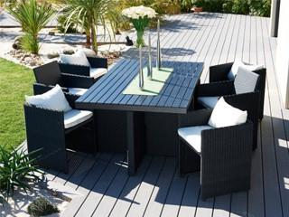 Table et chaise de jardin en résine tressée pas cher - Mailleraye.fr ...