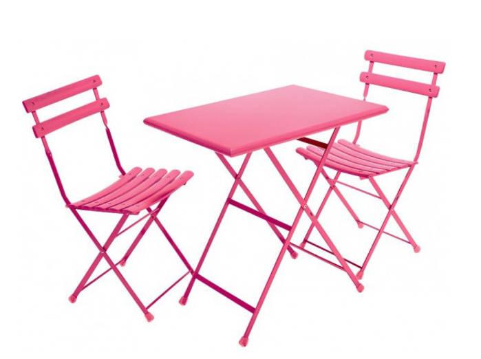 Chaise et table exterieur - Mailleraye.fr jardin