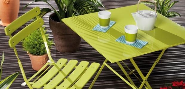 Salon de jardin en métal coloré - Mailleraye.fr jardin
