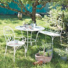 Salon de jardin retro fonte