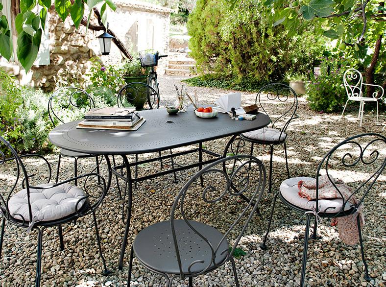 Chaise de salon de jardin en fer - Mailleraye.fr jardin