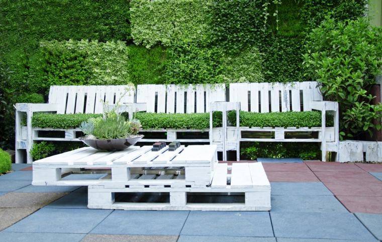 Idee salon de jardin en palette