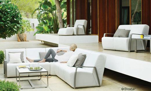Salon de jardin design pvc - Mailleraye.fr jardin