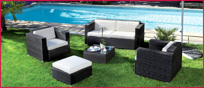 mobilier de jardin resine tressee carrefour mailleraye. Black Bedroom Furniture Sets. Home Design Ideas
