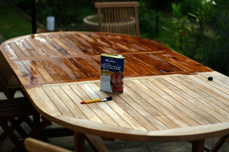 Awesome Traitement Table De Jardin En Teck Photos - House ...