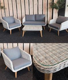 Salon de jardin aloes aluminium 1 table + 8 fauteuils