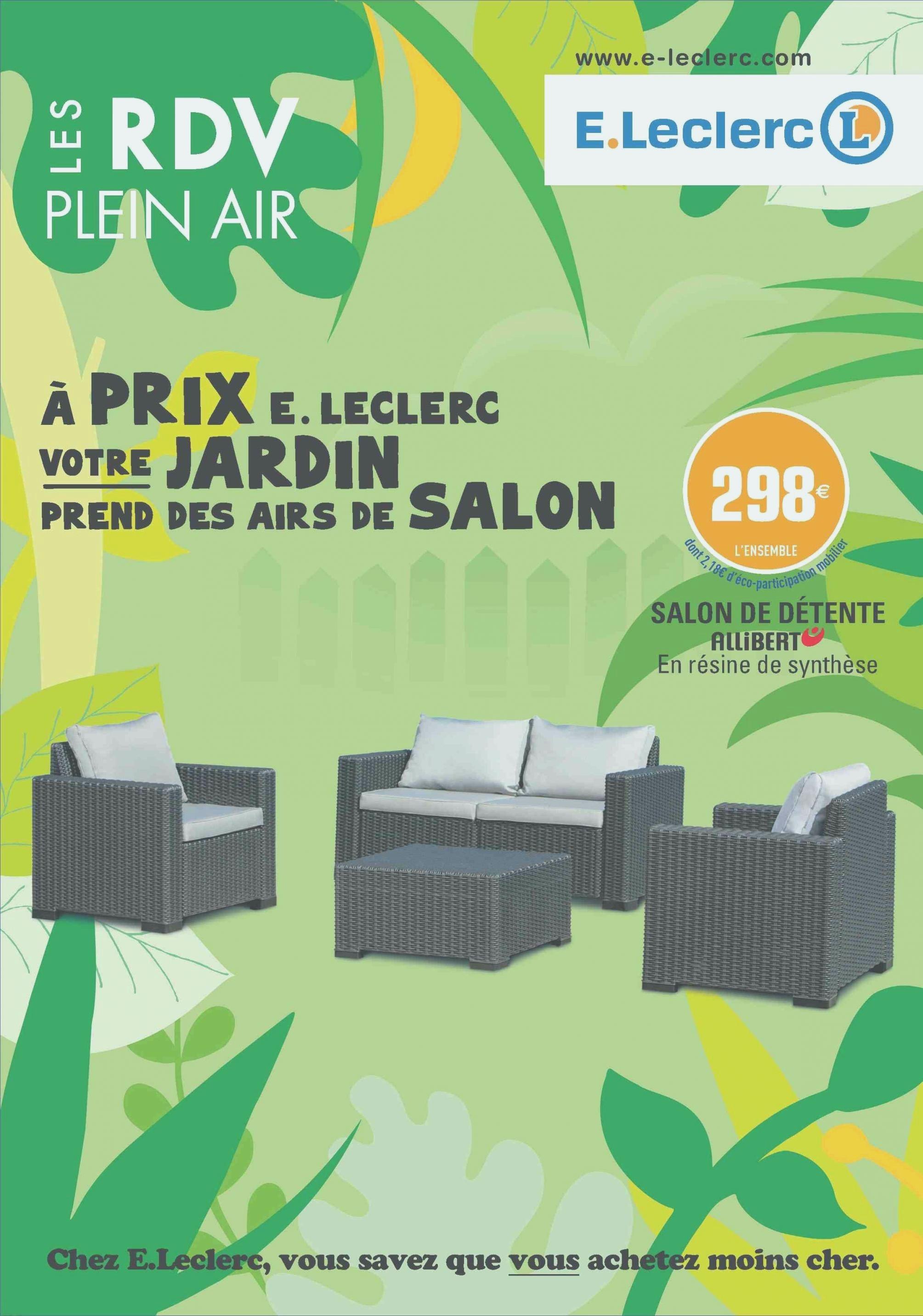 Brico leclerc gueret salon de jardin - Mailleraye.fr jardin