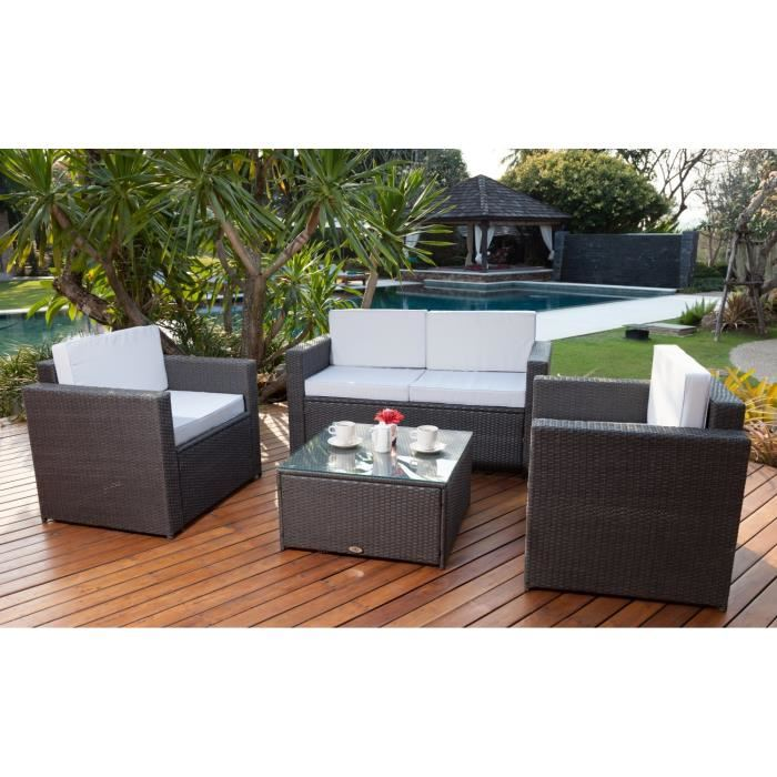 Table de salon de jardin cdiscount