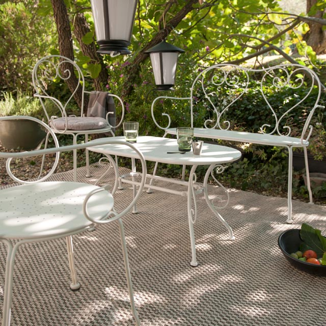 Salon de jardin fer forge marron - Mailleraye.fr jardin