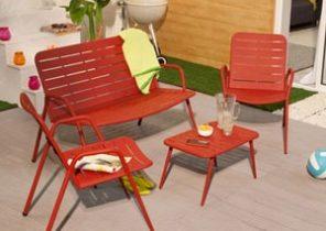 Best Salon De Jardin Aluminium Rouge Idees - Photos et idées ...