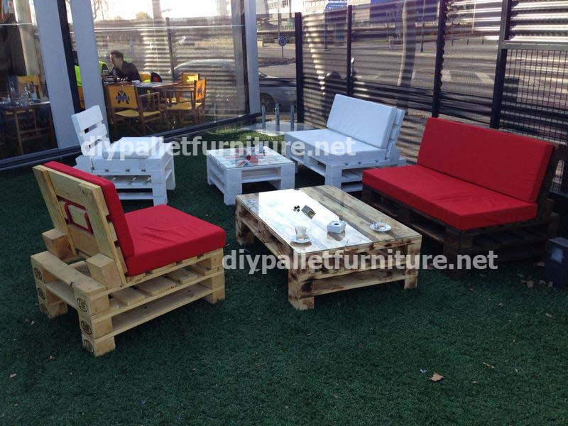 Salon de jardin avec palette - Mailleraye.fr jardin