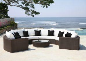 Salon de jardin barcelona aluminium 1 table 6 fauteuils - Mailleraye ...