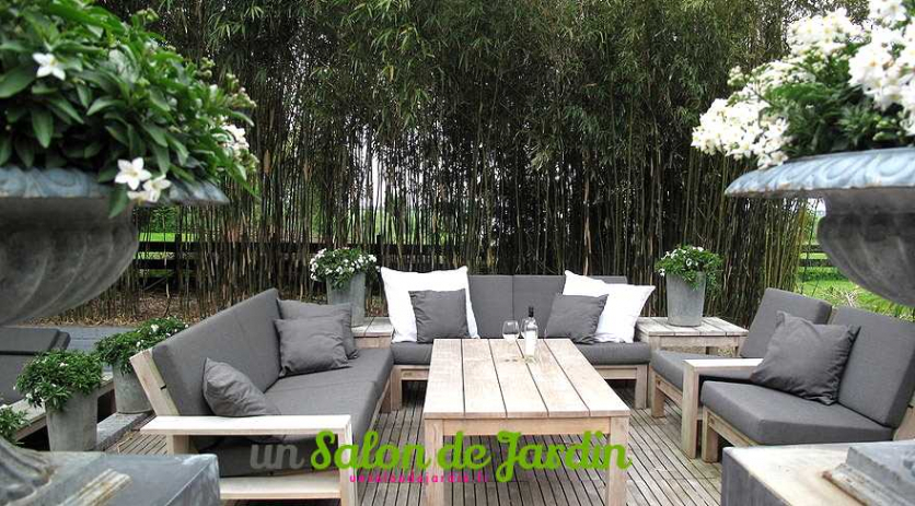salon bas de jardin en bambou jardin. Black Bedroom Furniture Sets. Home Design Ideas