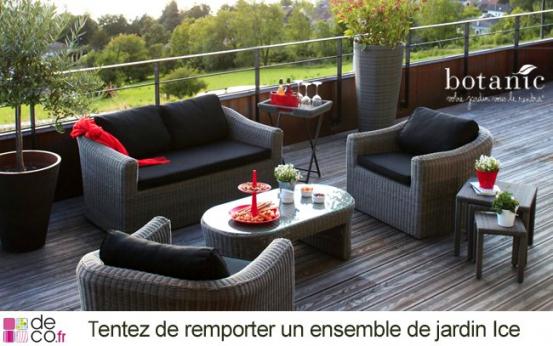 Salon de jardin resine botanic - Mailleraye.fr jardin