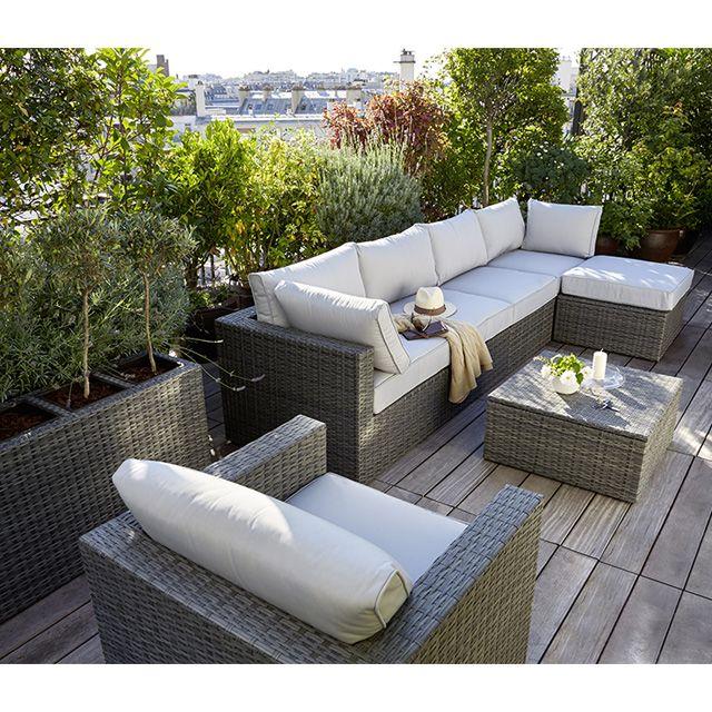 Salon de jardin composite castorama