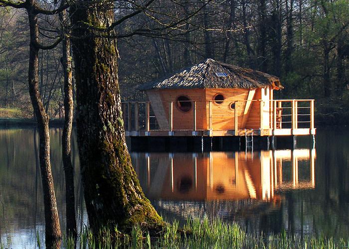 Cabane au bord de l'eau belgique