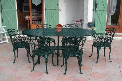 Salon de jardin fonte aluminium - Mailleraye.fr jardin