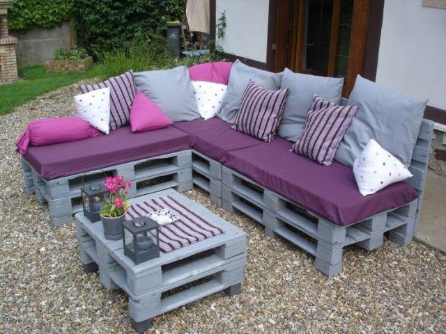 Comment fabriquer un salon de jardin en palette - Mailleraye.fr jardin