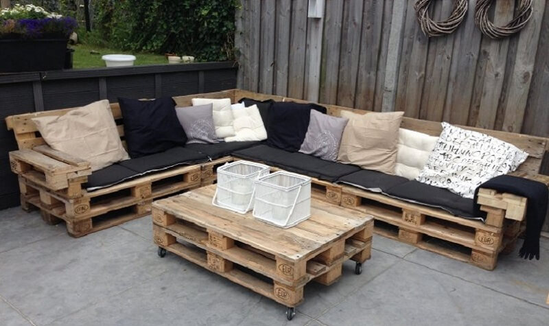 Materiel pour salon de jardin en palette - Mailleraye.fr jardin