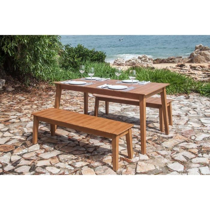 Cdiscount salon de jardin en bois