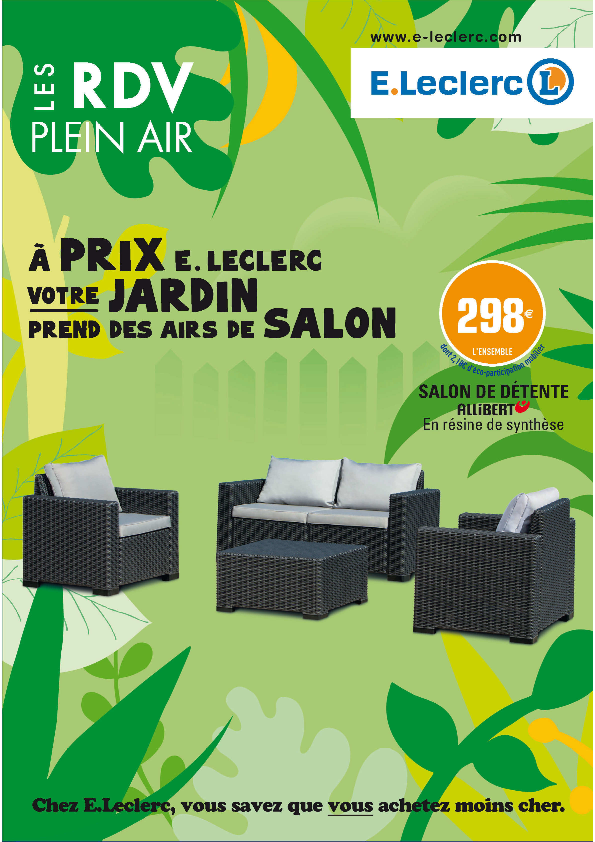Salon de jardin leclerc promo