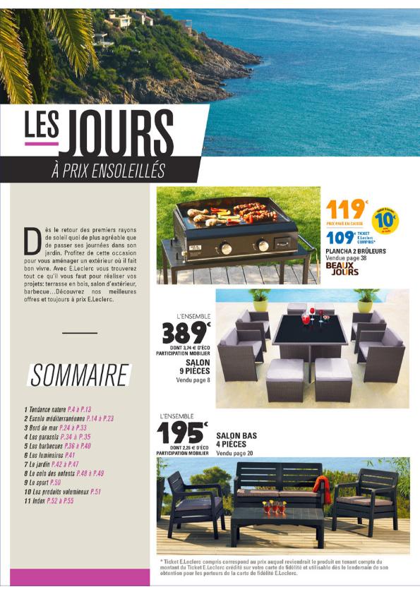 Salon de jardin 9 pieces leclerc - Mailleraye.fr jardin