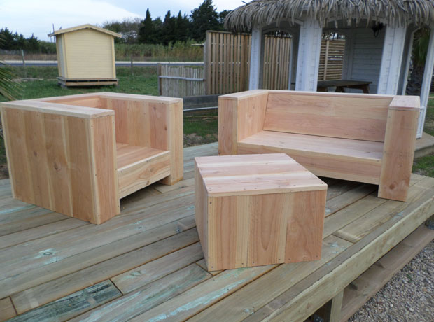 Fabriquer un salon de jardin en bois jardin - Fabriquer son salon de jardin en bois ...