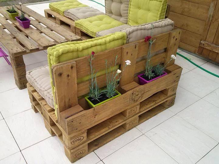 Salon de jardin en palette materiel - Mailleraye.fr jardin